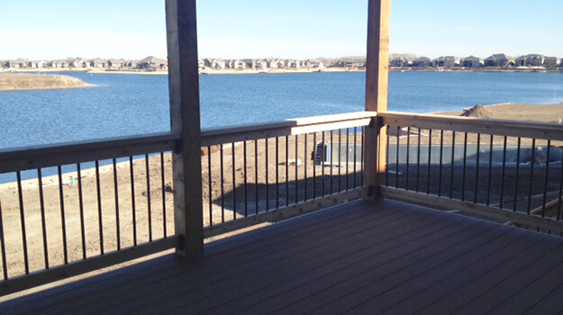 Composite Deck View Over Lake