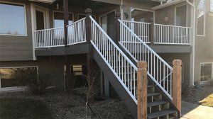 Composite Deck with Aluminum Handrail and Balusters