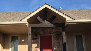 Decorative Porch Columns and Awning
