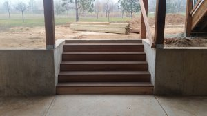 Exterior Improvements Composite Stairs Walk Out Pit