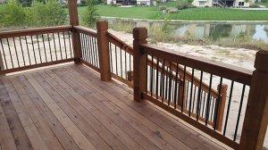 Sanded Cedar Deck