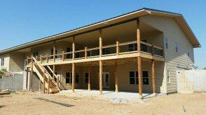 Large Wood Deck New Deck Construction