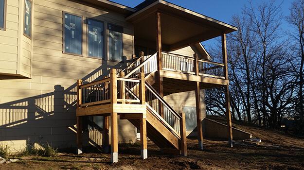 Sanded Cedar Deck Sunshine