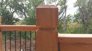 Deck Post, Handrail, and Balusters